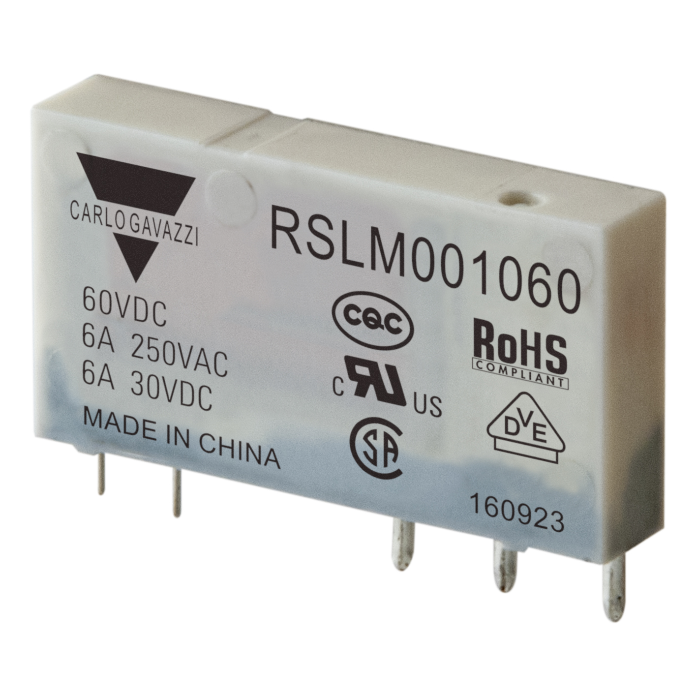 Kompakt indistrirelä RSLM 60VDC