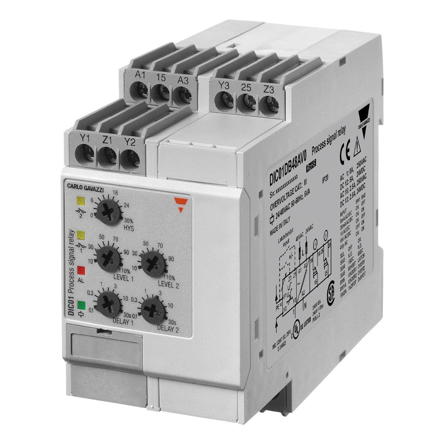 DIC01 Övervakningsrelä 1-fas Ström